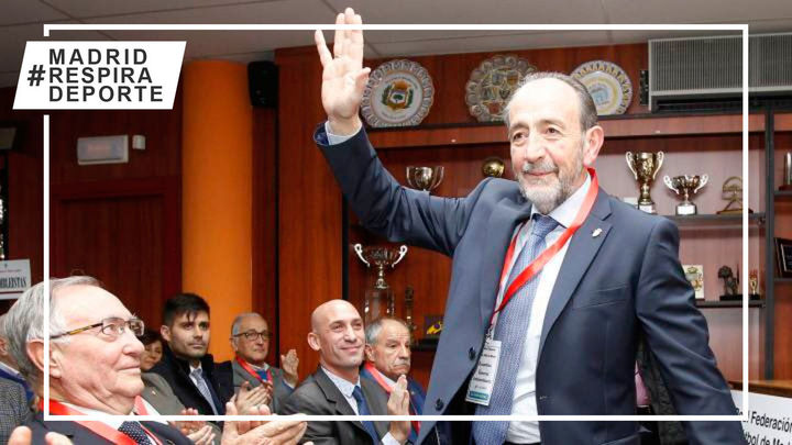 Paco Díez, reelegido presidente de la Federación de Fútbol de Madrid