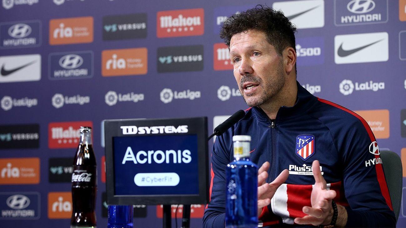"""Simeone: """"Ante el Sevilla No hay ningún tipo de excusa"""""""