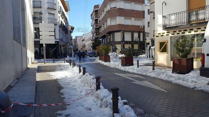 Arganda intenta volver a la normalidad tras la gran nevada