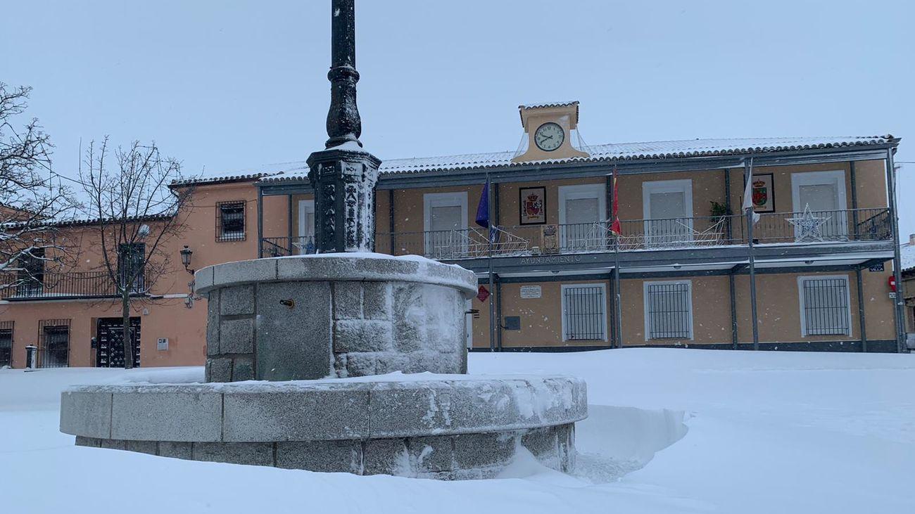 Ayuntamiento de Daganzo nevado