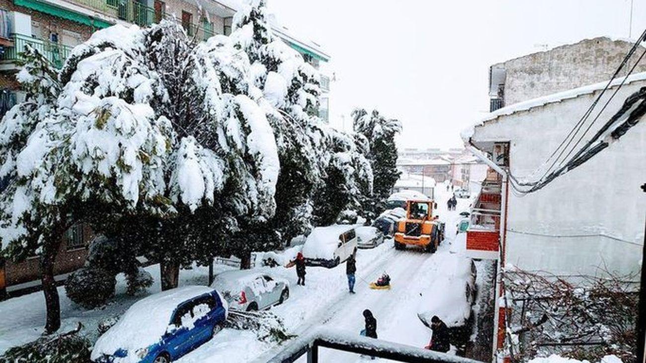 Calles de Ciempozuelos tras la gran nevada