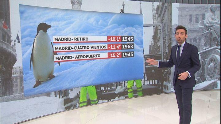 Madrid afronta la que podría ser la noche más fría de su historia