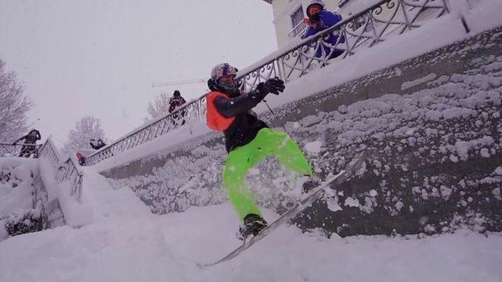 Danny León, un skater hace snow por Madrid