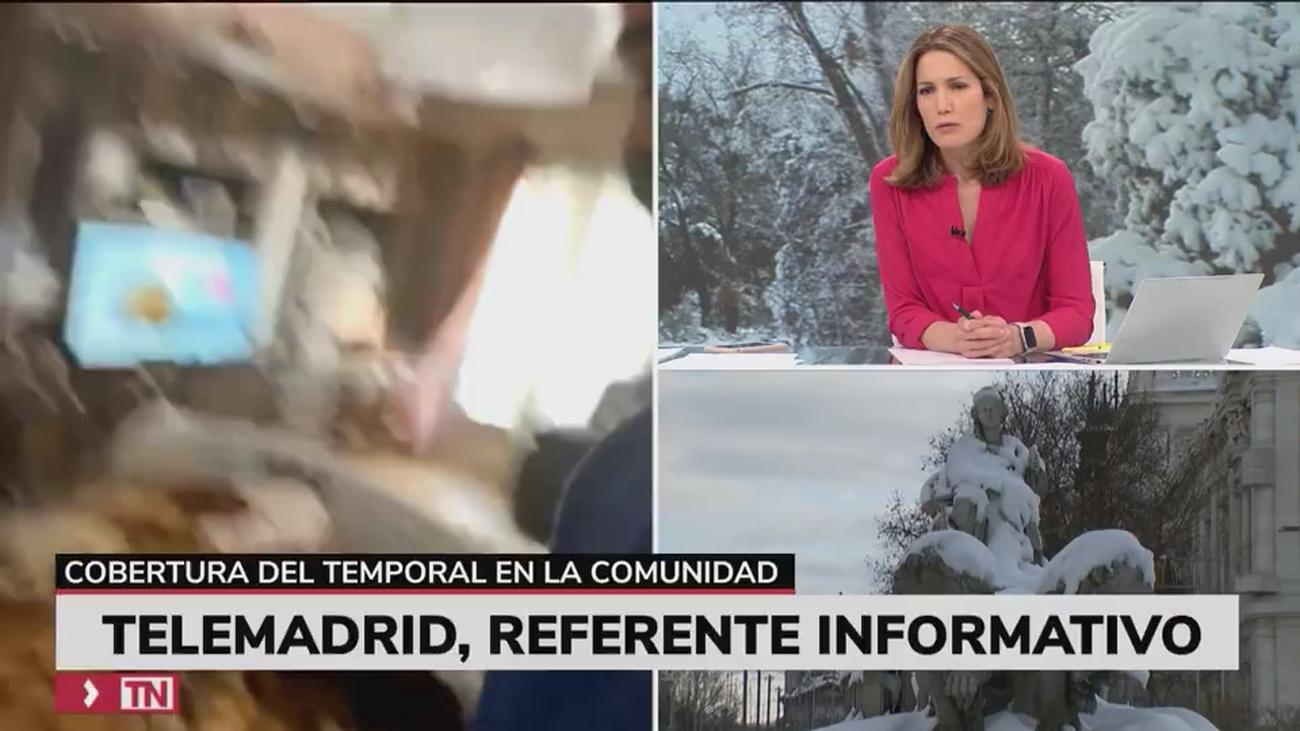 Los madrileños, informados de la nevada en Madrid a través de Telemadrid