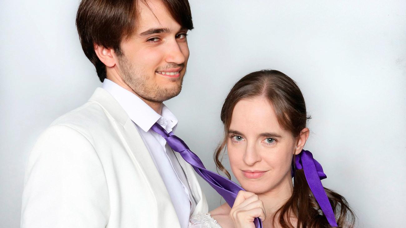 Protagonistas de la obra de teatro 'La importancia de llamarse Ernesto'