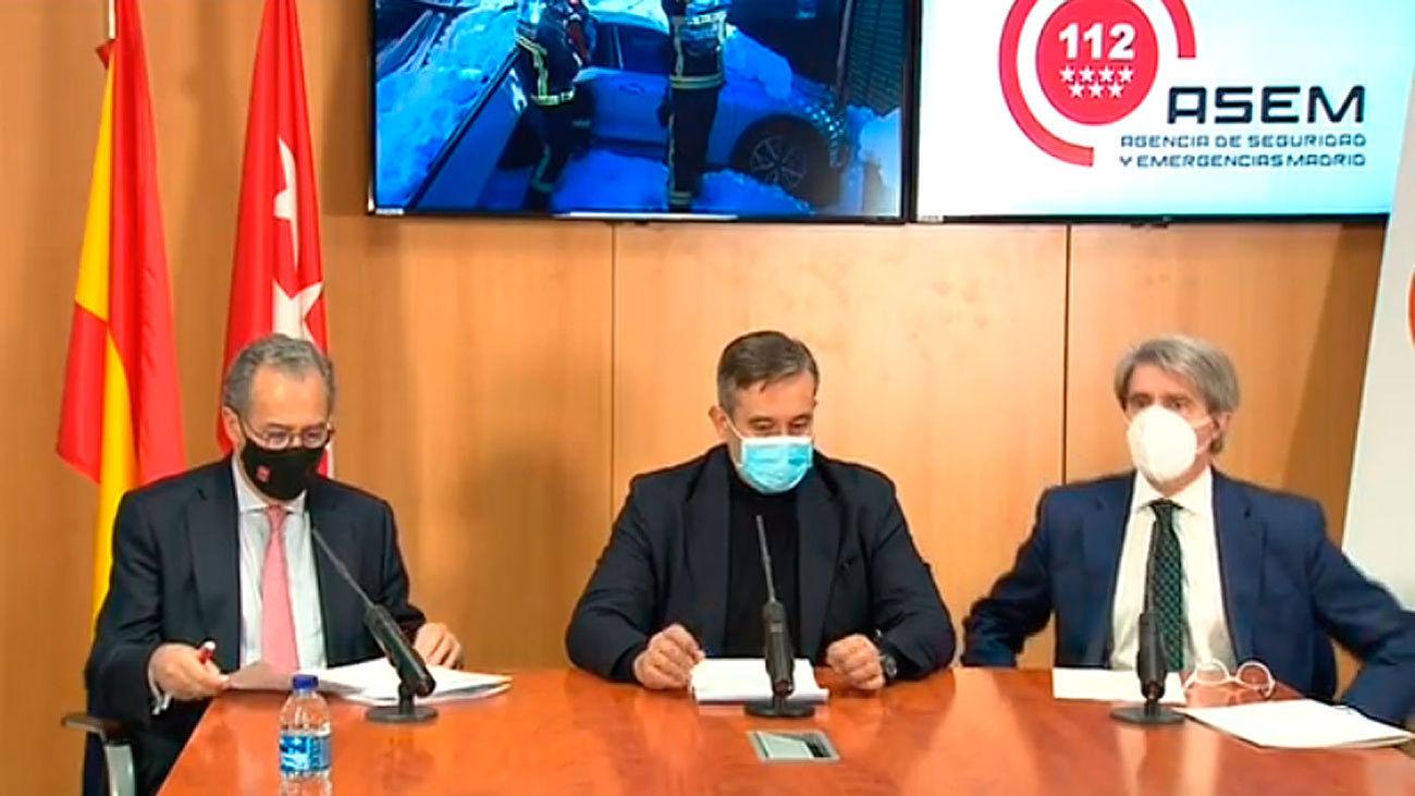 Enrique Ossorio, Enrique López y Ángel Garrido