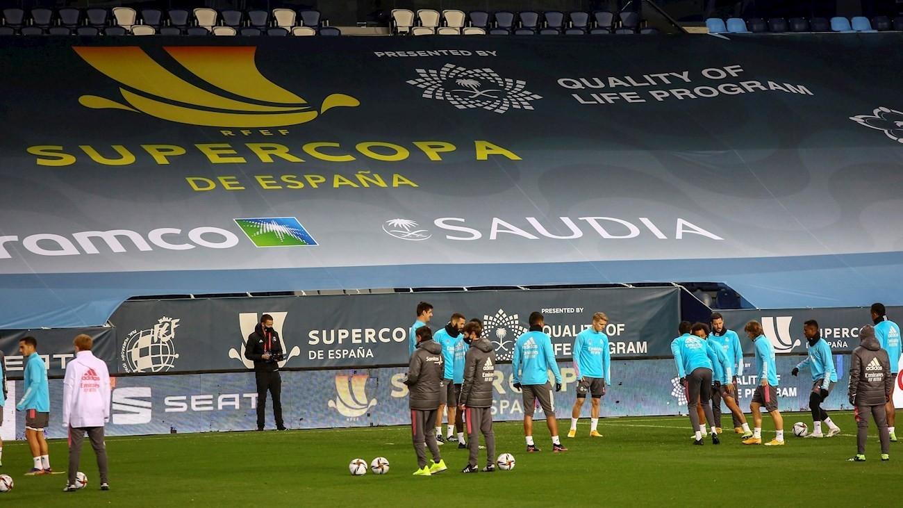 El Real Madrid cierra en La Rosaleda la preparación de la Supercopa
