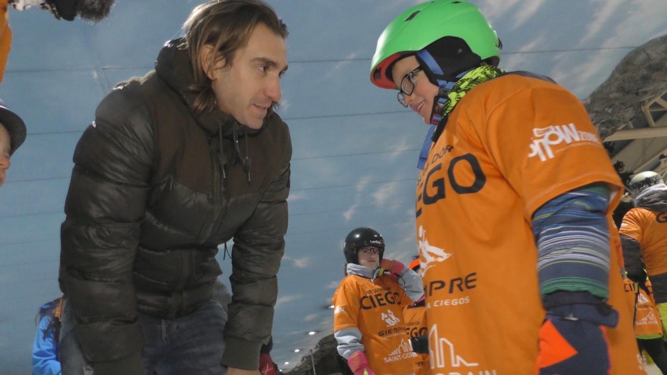Andrés Herrero, su ceguera no le impide practicar esquí alpino