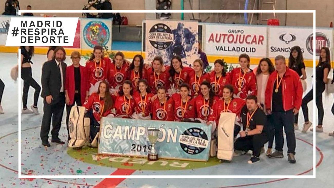 Tres Cantos, campeón de la Copa de la Reina de hockey línea