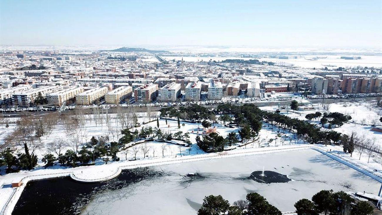 Vista de Lago de la Alhóndiga en la localidad madrileña de Getafe