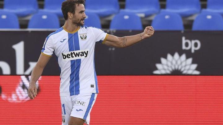 """Juan Muñoz, delantero del Leganés: """"Quiero al Sevilla, pero el sábado a por ellos"""""""