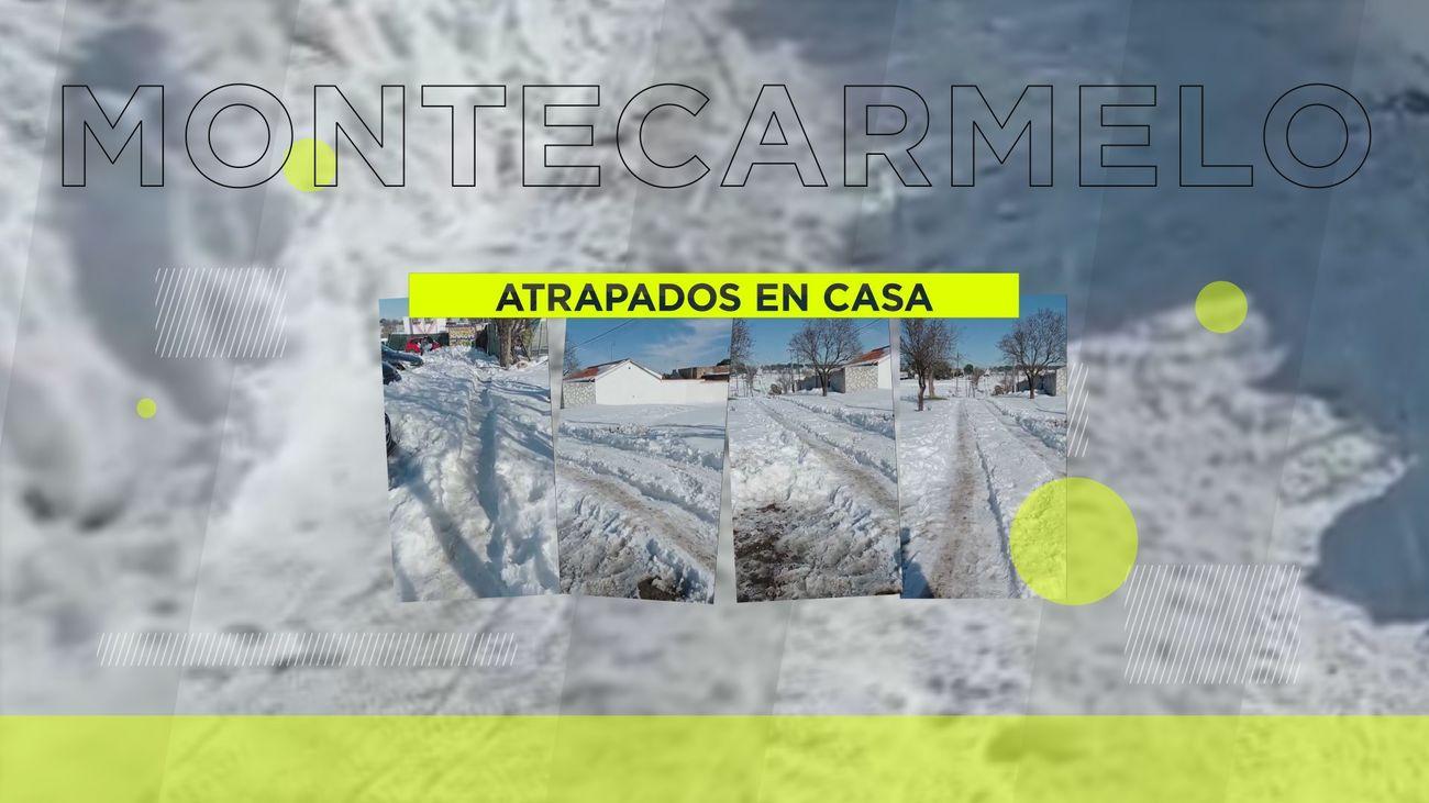 Sin agua e incomunicados en Montecarmelo tras la gran nevada
