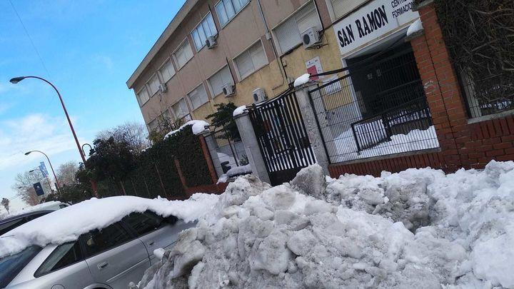 Madrid amplía en 3 días el calendario escolar por culpa de la gran nevada