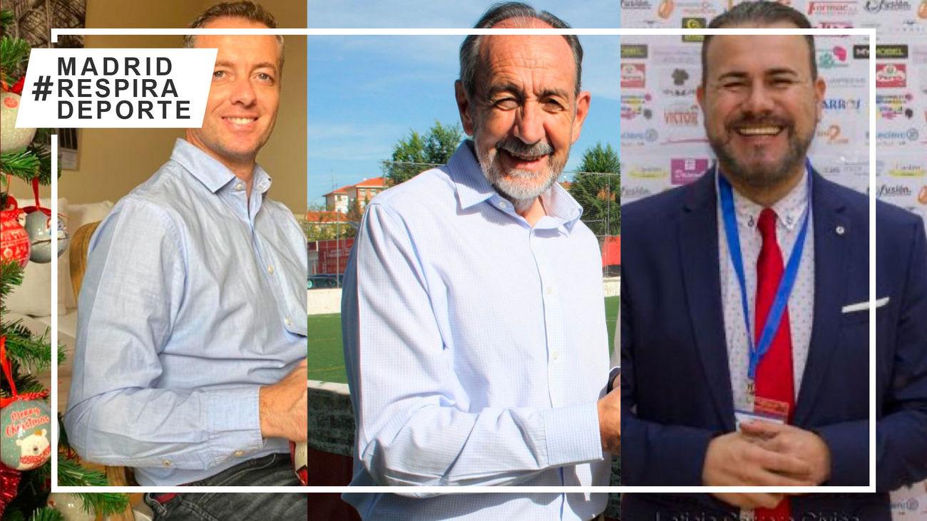 Paco Díez, Miguel Galán y Jesús Peramos