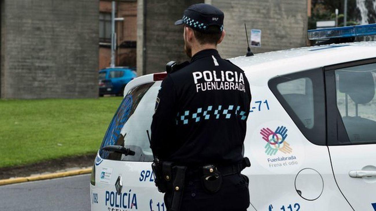 Control policial en Fuenlabrada