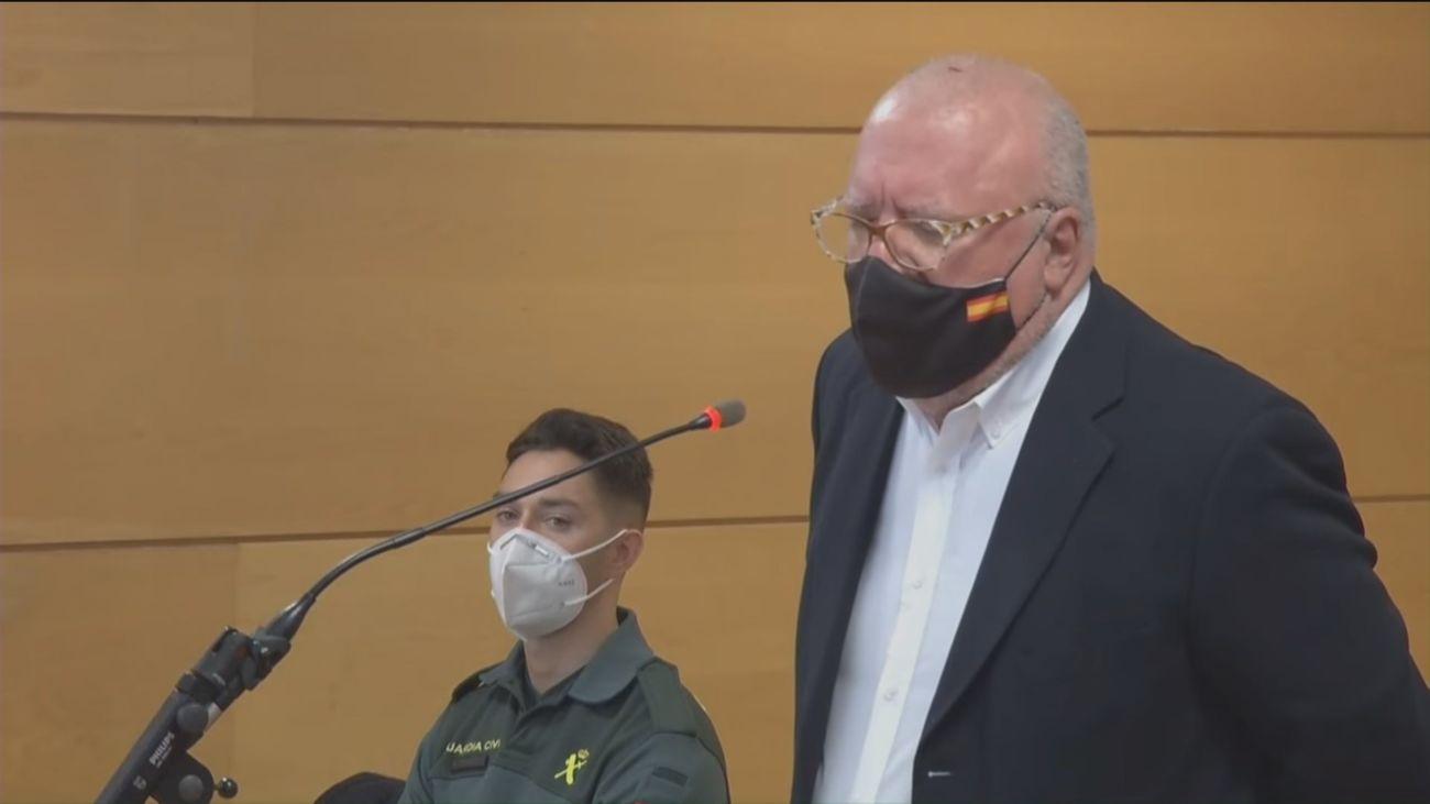 El excomisario Villarejo declara durante el juicio