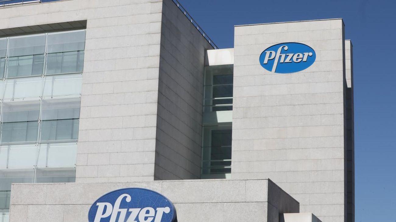 Edificio de la multinacional farmacéutica Pfizer en Alcobendas