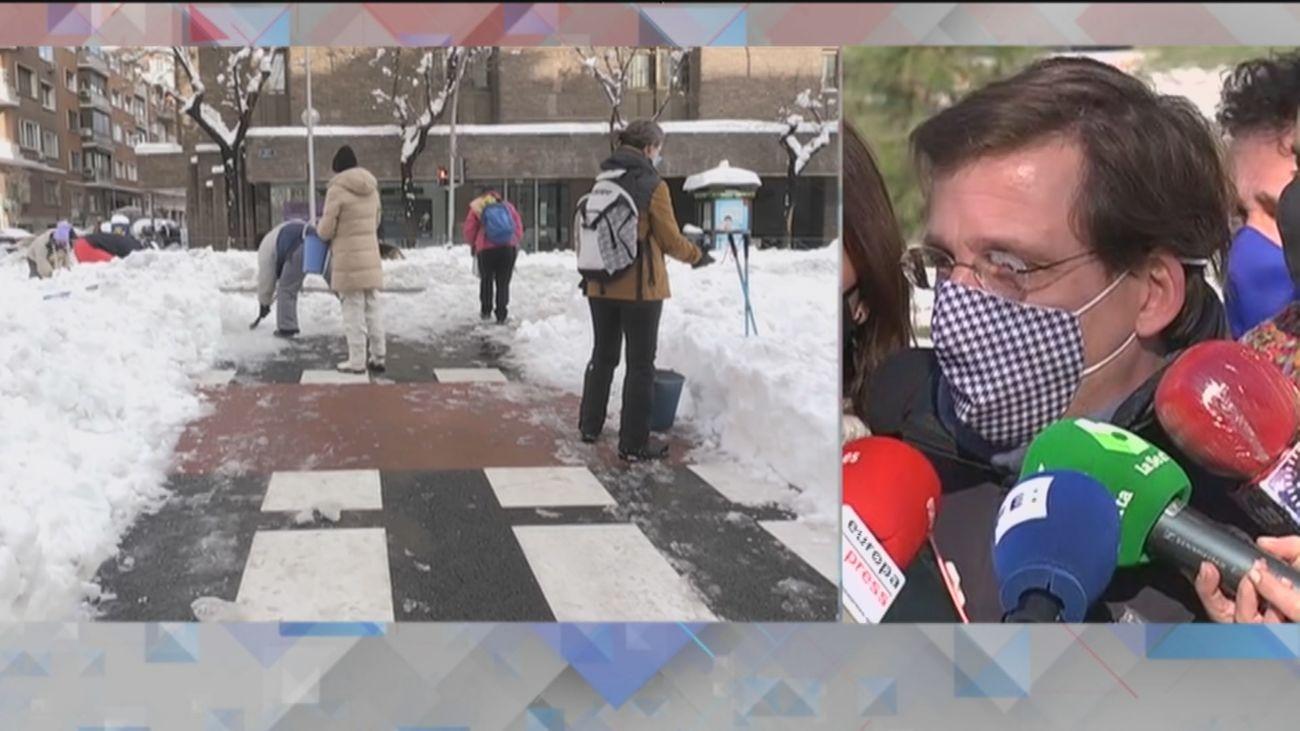"""Almeida: """"Esto no ha sido una nevada, ha sido una catástrofe, un tsunami"""""""