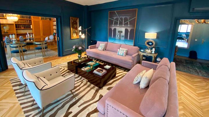 La casa de las paredes azules
