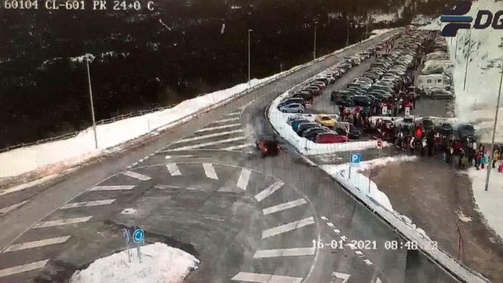 Cerrada al tráfico la M-601 que accede a los puertos de Navacerrada y Cotos