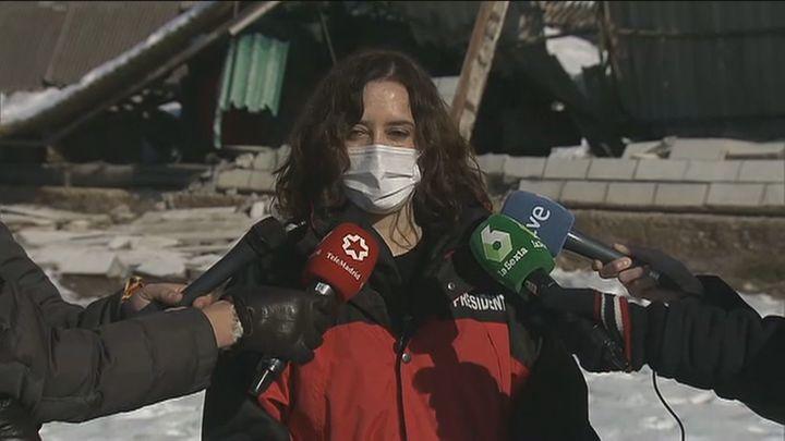 Ayuso cifra en 56 los municipios que ya han solicitado ser declarados zona catastrófica