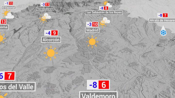 Cielos despejados y temperaturas mínimas de -8 grados en el centro y sur de la región