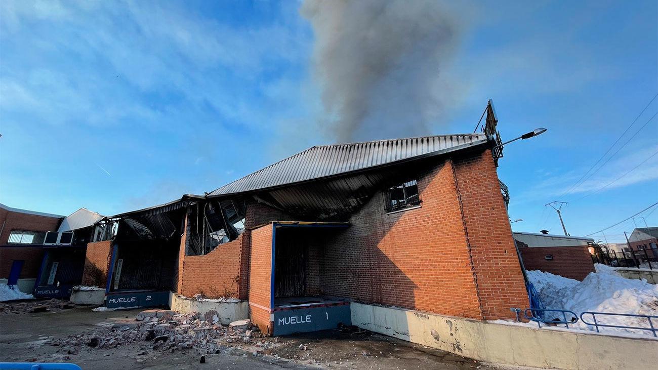 Incendio en nave industrial en Cubas de la Sagra