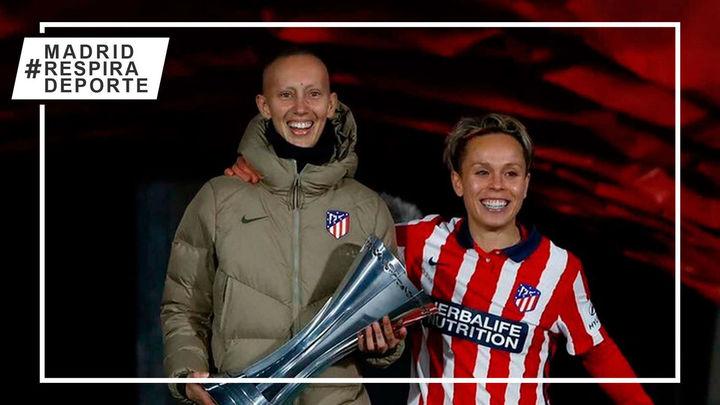 El emotivo gesto de Amanda con Virginia Torrecilla al levantar la Supercopa