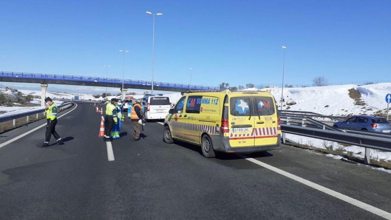 Accidente de tráfico en la M-50