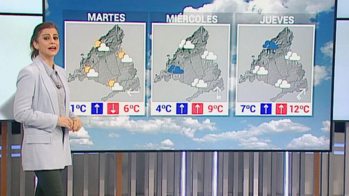 Lluvia y viento desde el miércoles en Madrid, que ayudarán a derretir la nieve y el hielo