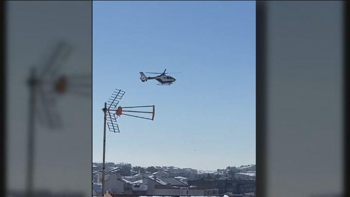 Un helicóptero sobrevuela Arganda en busca de un preso fugado
