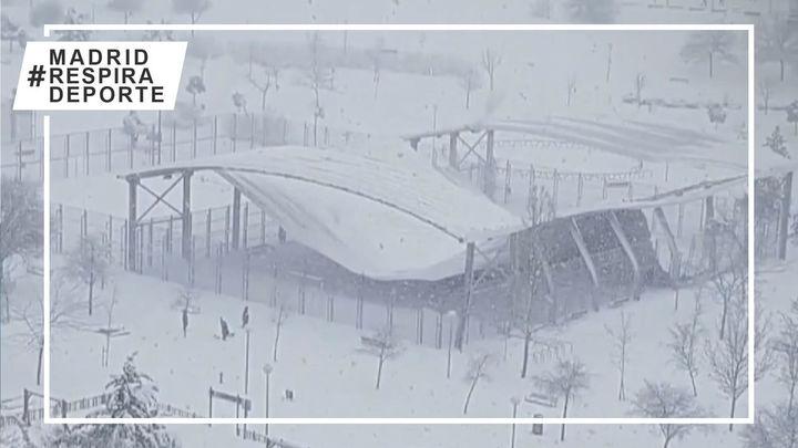 Los centros deportivos madrileños, devastados por la nieve