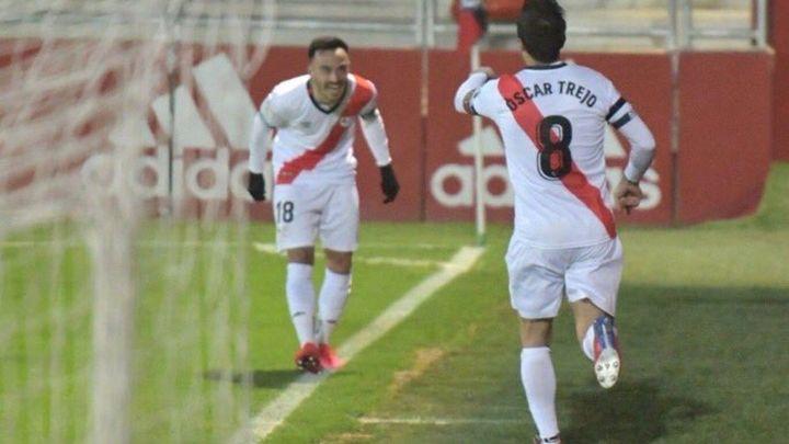 0-2. El Rayo encadena ante el Mirandés su tercera victoria consecutiva