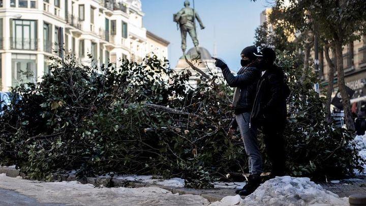 El Gobierno declara la zona catastrófica en los puntos de Madrid afectados por el temporal 'Filomena'