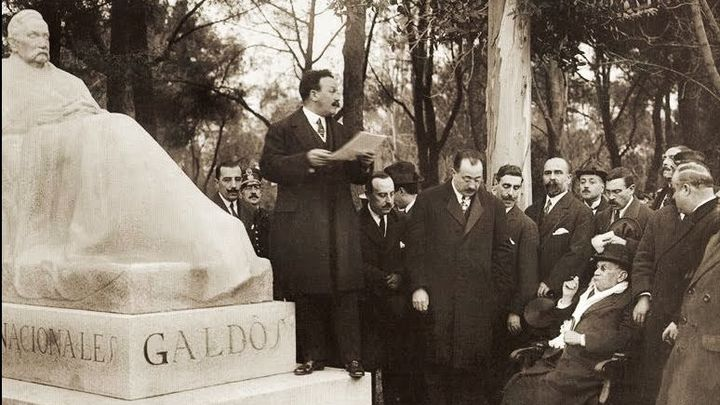 Un viaje al pasado, hace 102 años, con Galdós, el Retiro, sus árboles y las pandemias