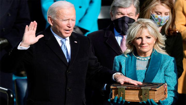 """""""La democracia ha prevalecido"""", aseguraJoe Biden tras jurar el cargo de presidente de EE.UU."""