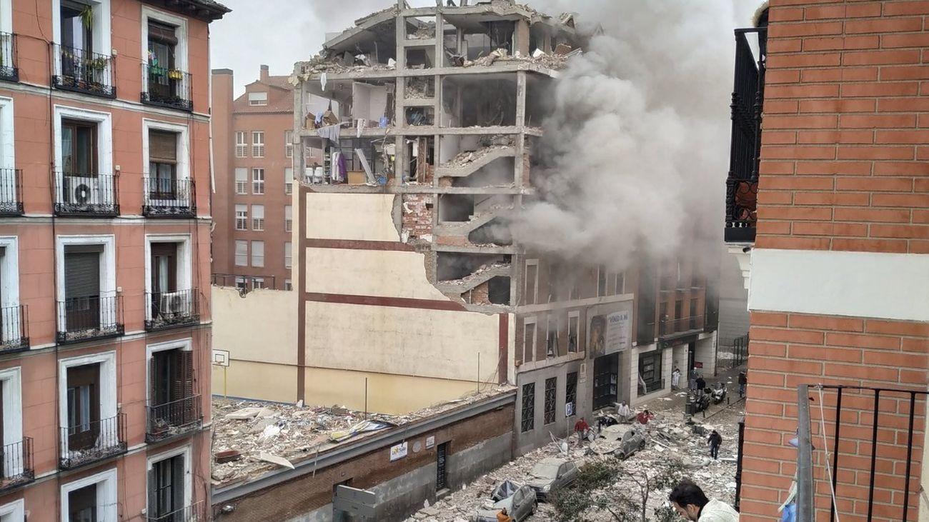 Fuerte explosión en un edificio cerca de Puerta de Toledo