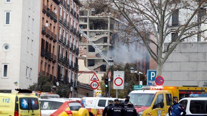 Al menos tres muertos y una decena de heridos en la explosión en un edificio de la calle Toledo