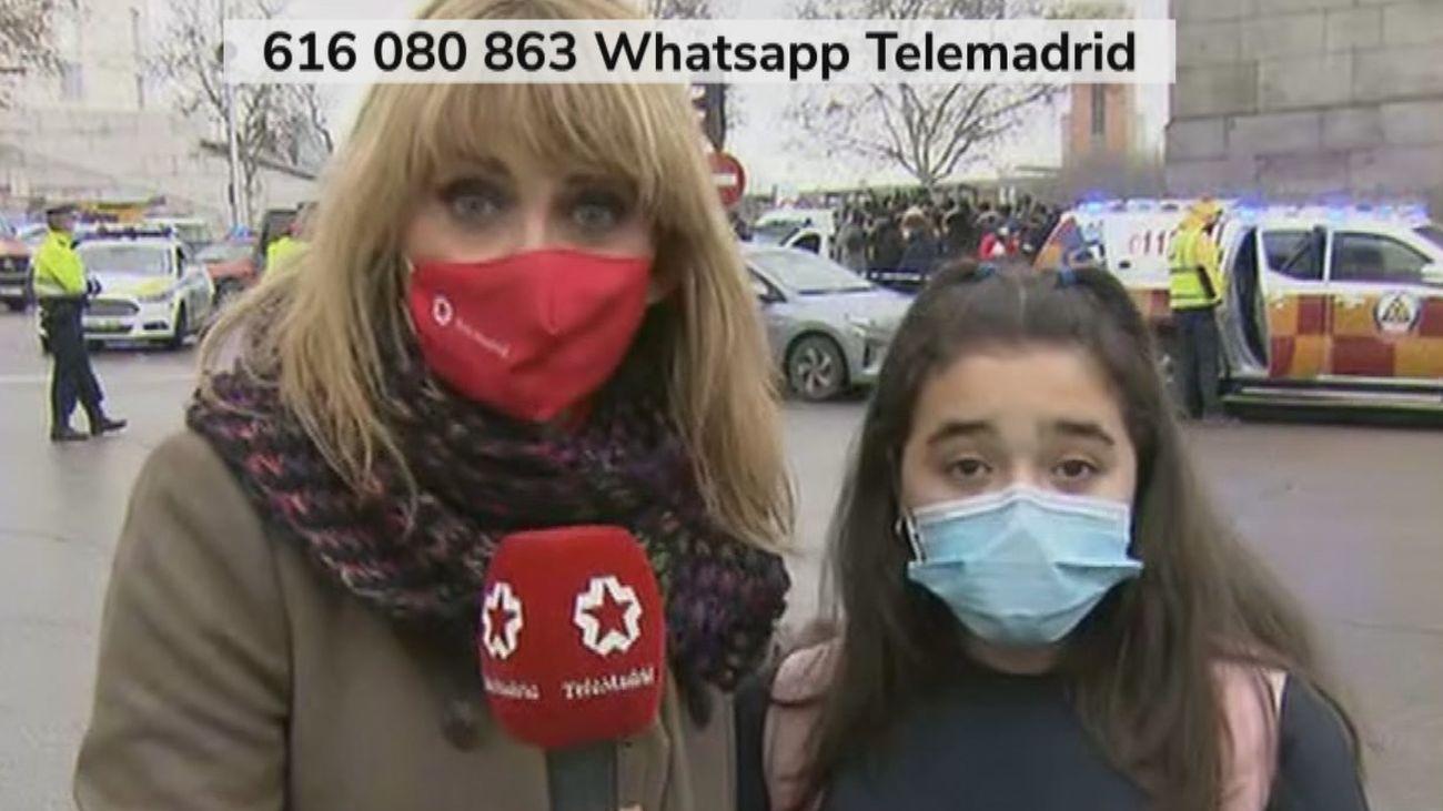"""Lucía, de 11 años: """"Estábamos en clase y hemos escuchado como una bomba"""""""