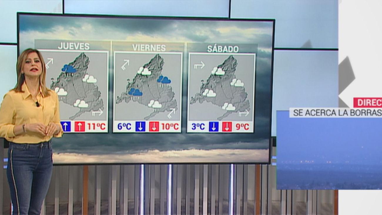 Comienza el deshielo en Madrid con la llegada de lluvias y fuertes vientos