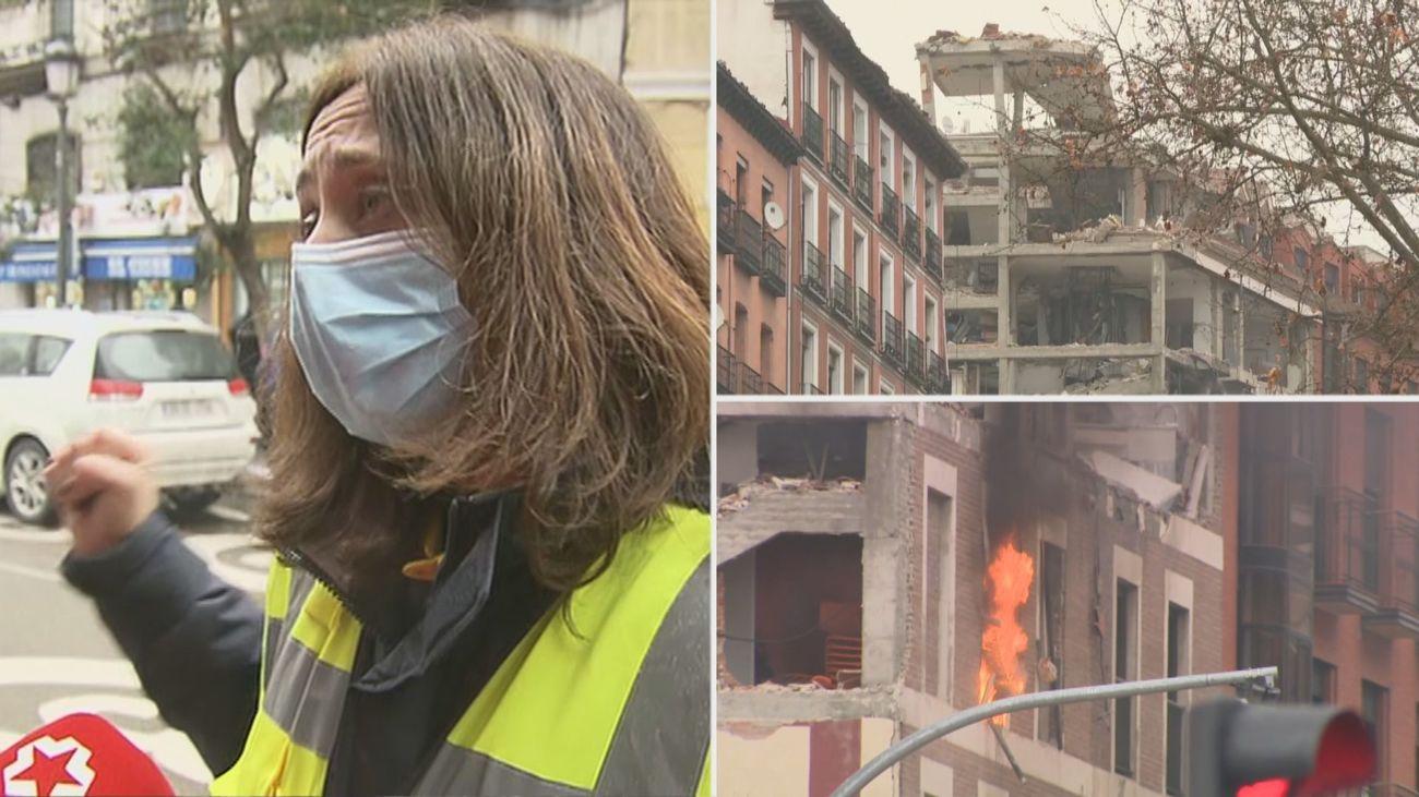 El Samur social traslada a los mayores de la residencia Los Nogales  a otra residencia de la zona tras la explosión