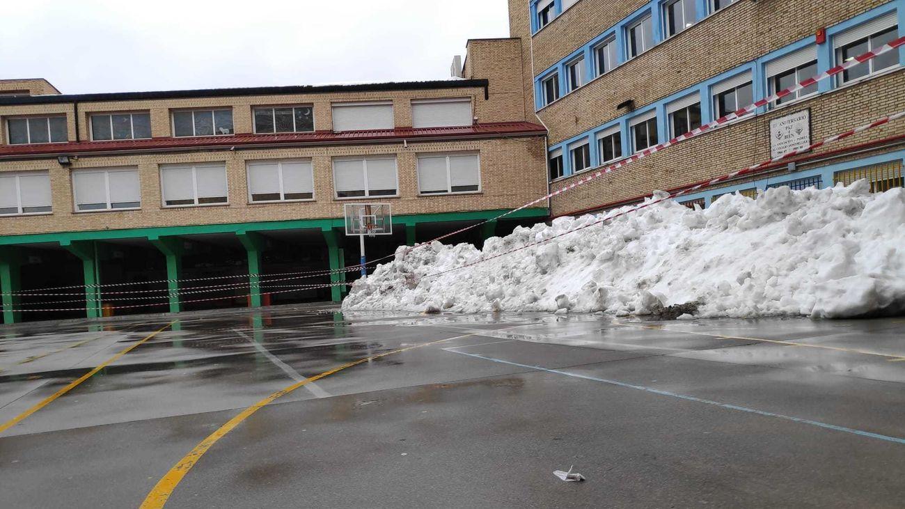 Patio del colegio Montpellier en Ciudad Lineal
