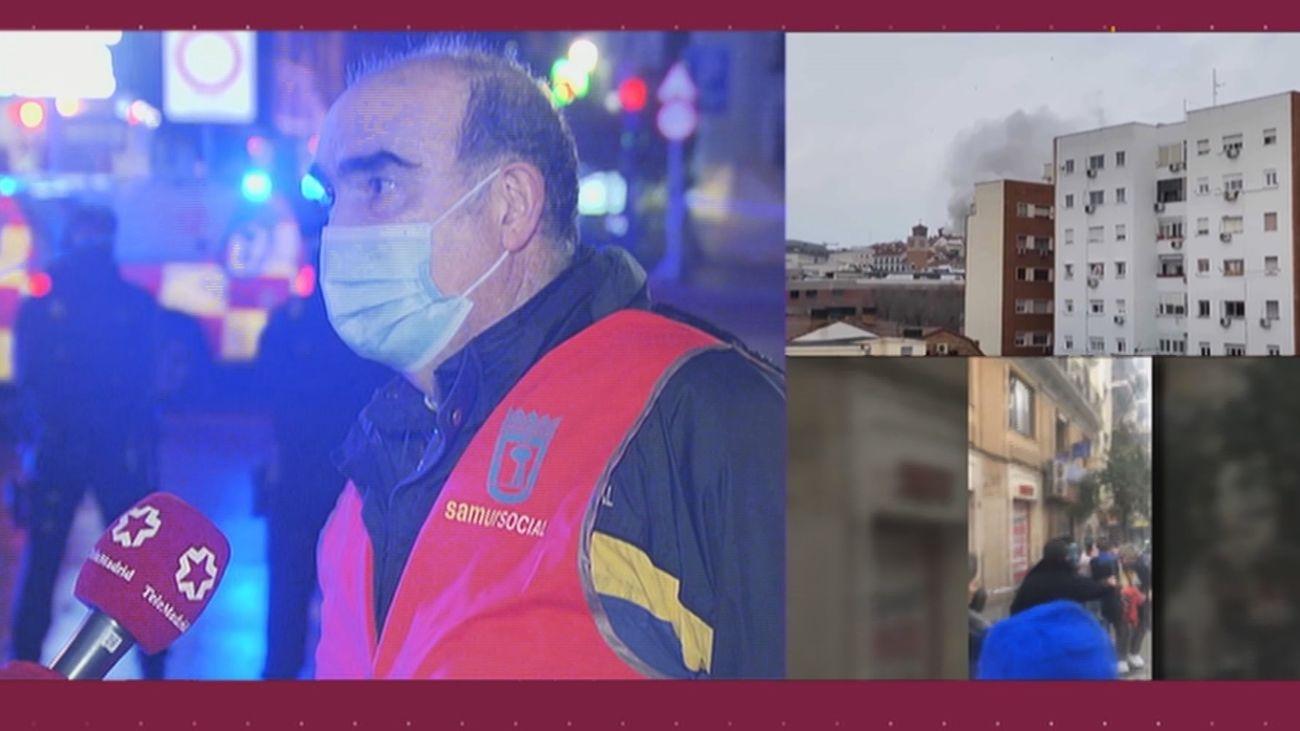 El Samur Social ofrece alojamiento a las familias de los edificios desalojados