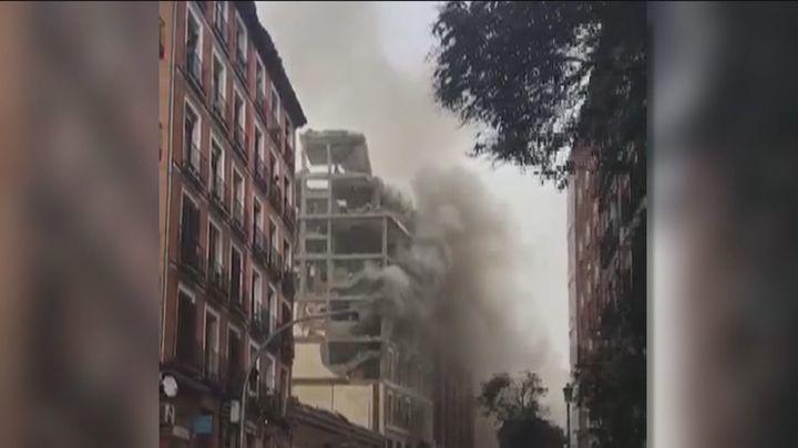 Cronología de la explosión en Madrid en un edificio de la calle Toledo