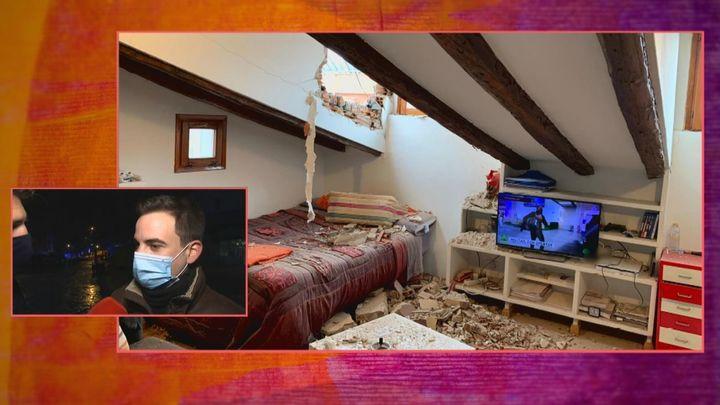 Así ha quedado la habitación de César tras la explosión en Madrid