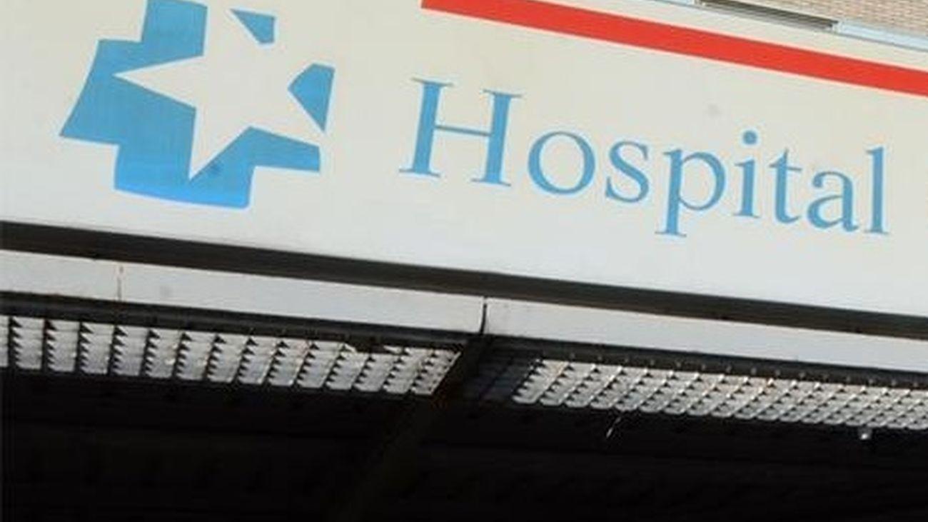 Cartel indicador de un hospital de la Comunidad de Madrid