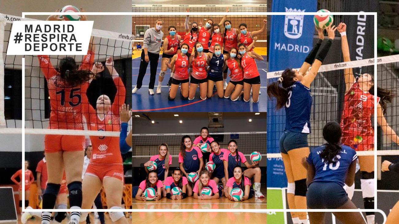 Feel Volley Alcobendas y Voleibol Madrid Chamberí