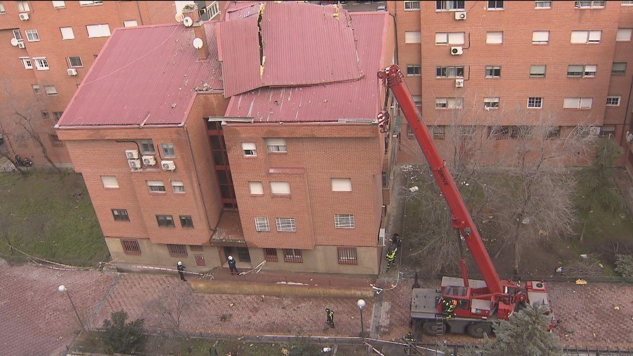 'Hortensia' golpea Madrid con fuertes vientos que provocan la caída de árboles y tejados