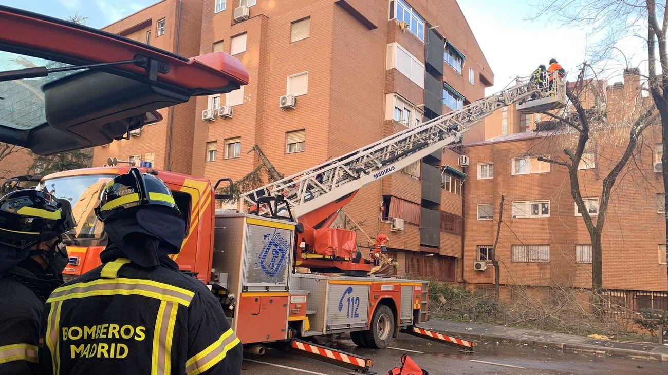 Los bomberos realizan distintas intervenciones por el viento