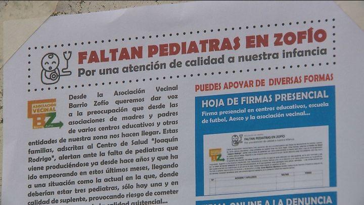 Una pediatra suplente para más de 4.300 niños en el barrio del Zofio